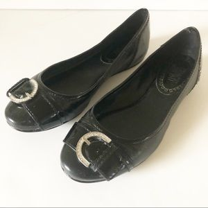 Coach Remmi Black Patent Ballet Flats
